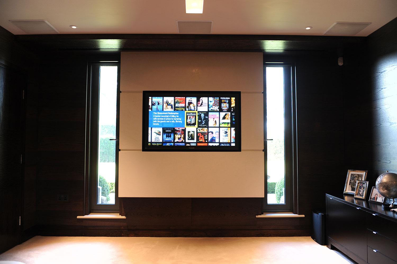 Plasma display showing Kaleidescape movie system